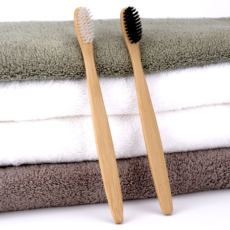 4pcs Eco-friendly Bamboo Charcoal Soft Fine Bristles Bamboo Handle Manual Toothbrushs for Adult
